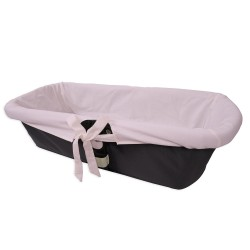 Pink inside bassinet cover for baby
