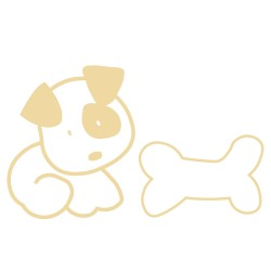 Decorative vinyl dog and bone Series Model 24