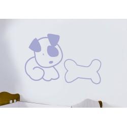 Decorative vinyl dog with huesito