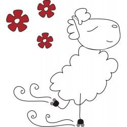 Decorative vinyl Sheep patin