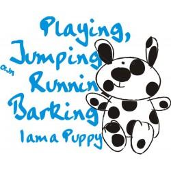 Decorative Vinyl Baby Bear Running