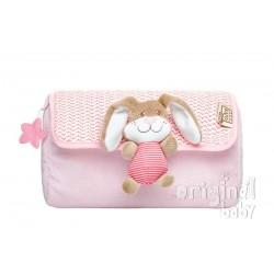 Baby pink bunny cosmetic bag