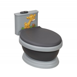Musical Potty WC Giraffe Black-Gray