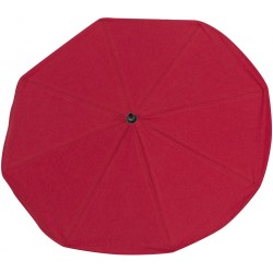 Red umbrella chair with UV filter