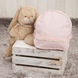 Nursery backpack poly pink skin