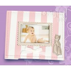 Imitation leather photo frame pink bambi