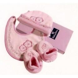 Gift set 3-piece pink newborn