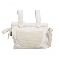 Beige leatherette baby breadbox Destellos