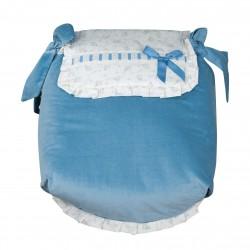 Autumn Blue Bedspread Carrycot