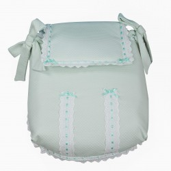 Carrycot coverlet Classic Green Water